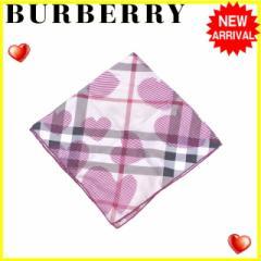 バーバリー BURBERRY スカーフ ハンカチ レディース チェック×ハート [中古] 人気 セール J13611