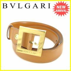 ブルガリ BVLGARI ベルト レディース メンズ 可 スクエアバックル [中古] 人気 セール J19832