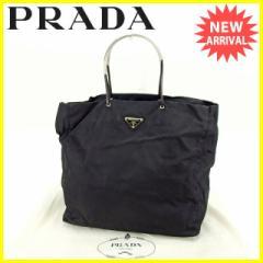 プラダ PRADA トートバッグ ハンドバッグ レディース B5550 ロゴプレート [中古] 人気 セール J10832