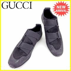 グッチ GUCCI シューズ スニーカー 靴 レディース ♯35ハーフC ゴムバンド [中古] 人気 セール J21032