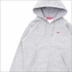 (新品)SUPREME(シュプリーム) Small Box Zip Up Sweatshirt (スウェットパーカー) GRAY 212-001014-032+【新品】(SWT/HOODY)