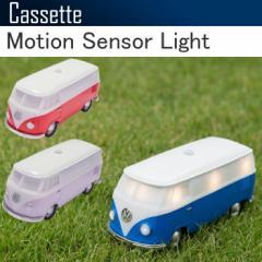 CASSETTE カセット フォルクスワーゲンバス モーションセンサーライト LEDライト ワーゲンバス型人感ライト