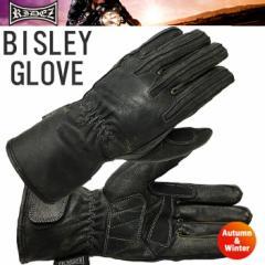 【送料無料】RIDEZ ライズ BISLEY GLOVES RLG358 BK/DUST バイク用秋冬レザーグローブ エイジング加工
