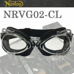 NORTON ノートン バイク用ゴーグル NRVG02 ブラック/クリア ビンテージ・クラシックスタイル