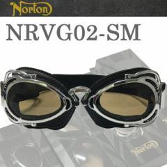 NORTON ノートン バイク用ゴーグル NRVG02 ブラック/スモーク ビンテージ・クラシックスタイル