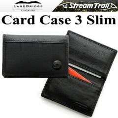 【ゆうパケット対応】LANDBRIDGE ランドブリッジ カードケース3スリムタイプ 薄型 クレジットカードケース ブラック