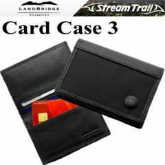 【ゆうパケット対応】LANDBRIDGE ランドブリッジ カードケース3 マチ付き 名刺入れ クレジットカードケース ブラック