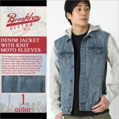 【送料299円】 BROOKLYN CLOTH ブルックリンクロス Gジャン メンズ デニムジャケット 大きいサイズ メンズ ストリート ブルゾン