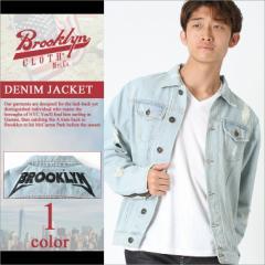 BROOKLYN CLOTH (ブルックリンクロス) デニムジャケット メンズ デニムジャケット ブルゾン Gジャン ダメージ