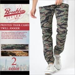 BROOKLYN CLOTH (ブルックリンクロス) ジョガーパンツ 迷彩 大きいサイズ メンズ ジョガーパンツ メンズ 細身 スキニー