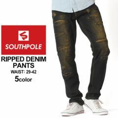 サウスポール SOUTHPOLE ジーンズ メンズ ダメージ デニム メンズ デニムパンツ メンズ アメカジ 大きいサイズ メンズ