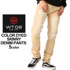 wt02 new york カラージーンズ メンズ デニム メンズ ジーパン メンズ デニムパンツ メンズ アメカジ 大きいサイズ メンズ