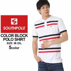 SOUTH POLE サウスポール ポロシャツ メンズ 半袖 ストリート ブランド ポロシャツ 大きいサイズ メンズ