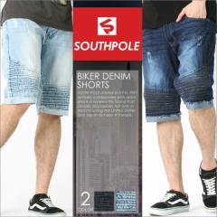 SOUTH POLE サウスポール ハーフパンツ メンズ デニム 大きいサイズ メンズ バイカー デニム
