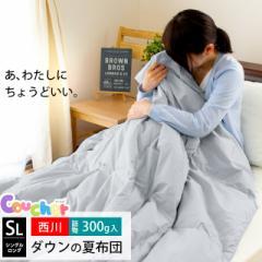 【送料無料】東京西川 肌掛け布団 ダウン85% シングルロング 150×210cm ( 肌布団 夏 丸洗い クーシェ 掛け布団 羽毛布団 )