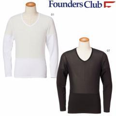 メール便送料無料 春夏 ゴルフウエア メンズ ファウンダース クールインナー Vネックシャツ FC-1504S 春夏