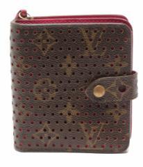 訳あり ルイヴィトン 二つ折り財布 ペルフォ コンパクトジップ モノグラム M95188 Louis Vuitton レディース 【中古】