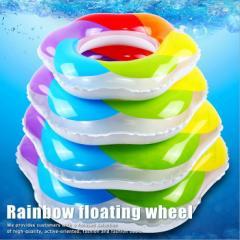 虹色 浮き輪 レインボー フロート 海水浴 海 プール 水上 レジャー 7996394【ALI】■02170723