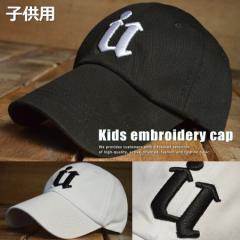 キッズ embroidery 刺繍 ローキャップ キッズ 子供用 帽子 新品 7996984【ALI】■05170724