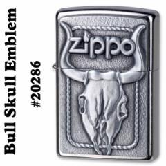 zippo(ジッポーライター) Bull Skull Emblem Street Chrome #20286