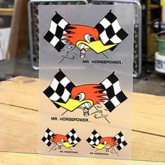 クレイスミス ステッカーセット 車 アメリカン キャラクター バイク ヘルメット Clay Smith 転写タイプ チェッカー_SC-CSYC007-MON