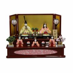 雛人形 二段飾り木目込み五人揃 芙蓉雛1336 幅75cm  3mk3 真多呂 古今段飾り 雛祭り
