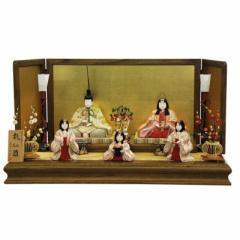 雛人形 平飾り木目込み五人揃 桃紅雛992604 幅75cm  3mk9 真多呂 古今人形 雛祭り