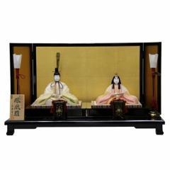 雛人形 平飾り木目込み親王 帯地鳳凰雛24091 幅68cm  3mk11 真多呂 伝統的工芸品 雛祭り