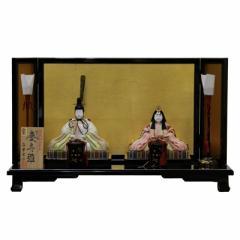 雛人形 平飾り木目込み親王 帯地慶寿雛25095 幅60cm  3mk18 真多呂 伝統的工芸品 雛祭り