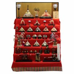 雛人形 七段飾り木目込み十五揃 華園雛1306 幅105cm  3mk102 真多呂 雛祭り