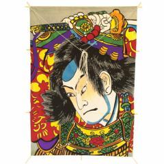 インテリア 手描き【和凧】角小凧 縦47×横33cm【ワ-7ヘ】武者絵 お正月飾り