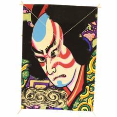 インテリア 手描き【和凧】角小凧 縦47×横33cm【ワ-7ホ】歌舞伎絵 松前鉄之助 お正月飾り