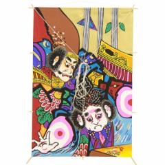 インテリア 手彫木版【和凧】角凧 縦52×横35cm【福-880ロ】武者絵 四天王 お正月飾り