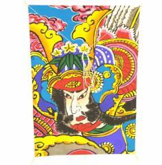 インテリア 手描き【和凧】新中角凧 縦58×横42cm【ワ-6ル】武者絵 お正月飾り
