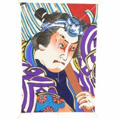 インテリア 手描き【和凧】新中角凧 縦58×横42cm【ワ-6ト】歌舞伎絵 火消しめ組 お正月飾り