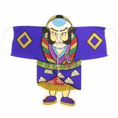 インテリア 手描き【和凧】大奴凧 縦63×横77cm【ヤ-18ロ】奴凧 紫 お正月飾り