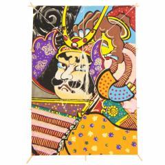 インテリア 手描き【和凧】特大角凧 縦67×横47cm【ワ-5ト】武者絵 お正月飾り