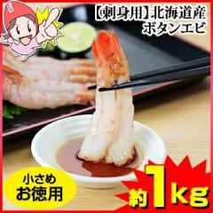 【刺身用】北海道産ボタンエビ 約1kg(小さめお...