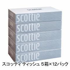 送料無料 スコッティ ティッシュペーパー 200組5箱×12パック まとめ買い 00115