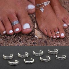 ボヘミアントゥリング 足の指輪 トーリング 足のリング ピンキーリング フリーサイズ レディース メンズ チップリング ミディリング ファ