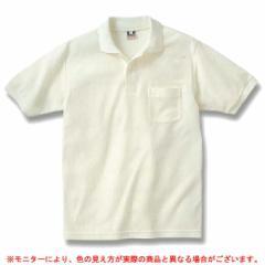 【在庫処分品】半袖ポロシャツ(ポケット有)(EVP008WT)カノコ 男女兼用 ユニセックス メンズ