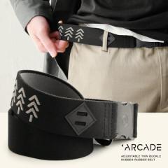 (アーケード) ARCADE ベルト ゴム ラバー ゴムベルト ラバーベルト フリーサイズ ストレッチ Blackwood