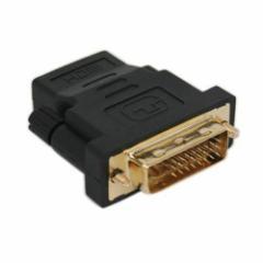 【送料無料】HDMI to DVI 変換アダプタ (HDMIタイプAメス・DVIオス) 画質の劣化を防ぐ金メッキ加工 テレビ/DVD/モニター(24+5pin)端子