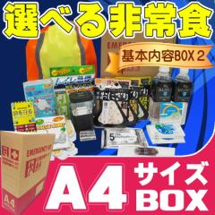 A4サイズ 災害備蓄用 防災セット 基本内容BOX2 本棚や引出しに収納出来る 防災グッズ セット