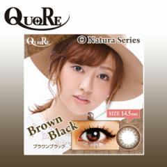 カラコン 1ヶ月用 1枚入り×2箱 度あり クオーレ ブラウンブラック Quore Nature series 14.5mm