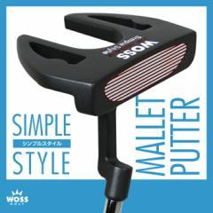 【パター】WOSS ウォズ シンプルスタイル パター WP-1604/2 マレット メンズ レディース/ゴルフ クラブ