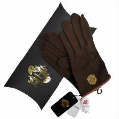 OROBIANCO オロビアンコ メンズ手袋 ORM-4102 Jersey glove カシミア ポリエステル他 DARKBROWN サイズ:23cm~24cm【送料無料】