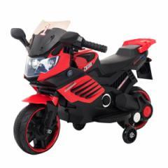電動乗用バイク レッド ホワイト 充電器付き CBK-016 子供用 乗用 プレゼント ギフト おもちゃ バイク カッコいい 充電式(代引不可)【送
