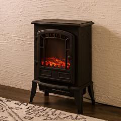 暖炉型ファンヒーター Bolivia ボリビア セラミックファンヒーター ファンヒーター ヒーター 暖房 暖炉 ストーブ ブラック【送料無料】