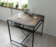 grant GRANT ダイニングテーブル幅75 天然木 北欧 木製 テーブル 作業台 ダイニングセット 北欧 木製 アイアン(代引不可)【送料無料】